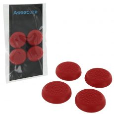 PS4 TPU Thumb Grips - Red (Assecure) /PS4