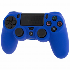Pro Soft Silicone Protective Cover with Ribbed Handle Grip [Blue] /PS4