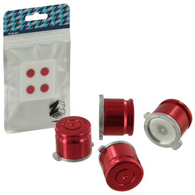 ZedLabz PS4 Alloy Metal Bullet Buttons x4 [Red] /PS4