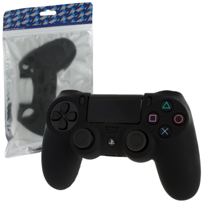 Silikona pārvalks PS4 kontrolierim [Black]