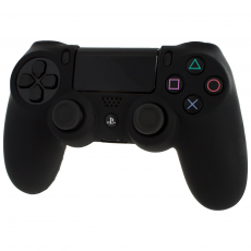 Pro Soft Silicone Protective Cover with Ribbed Handle Grip [Black] /PS4