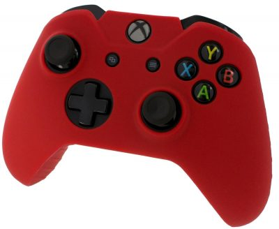 Pro Soft Silicone Protective Cover with Ribbed Handle Grip [Red] /Xbox One