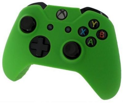 Pro Soft Silicone Protective Cover with Ribbed Handle Grip [Green] /Xbox One