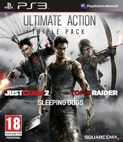 Ultimate Action Triple Pack (Just Cause 2, Sleeping Dogs & Tomb Raider) /PS3