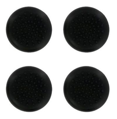 PS4 TPU Thumb Grips - Black (Assecure) /PS4
